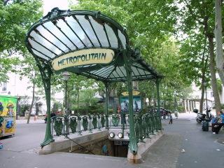 Стиль модерн / Ар нуво в Париже / Метрополитен Парижа